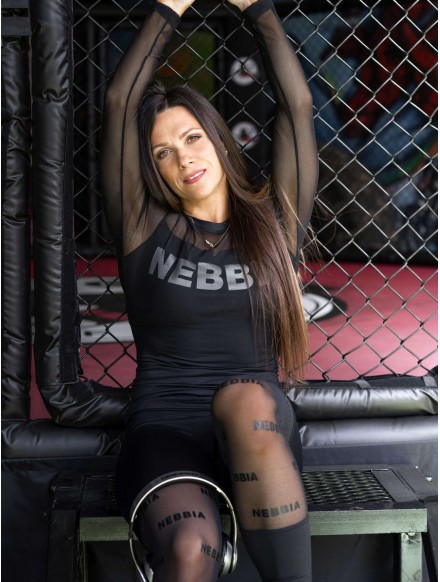 Leggings mit Netz N666...
