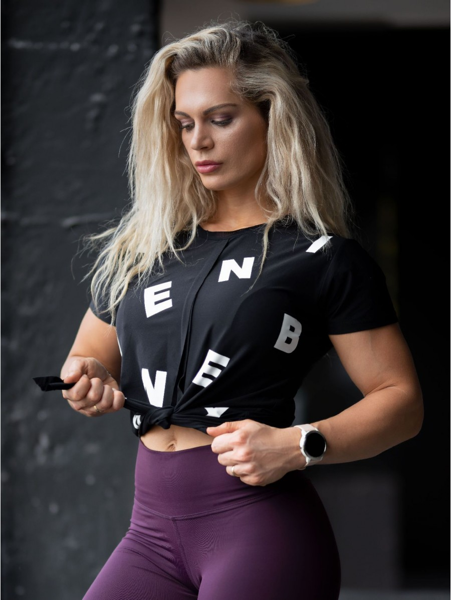 Tied knot Letters T-shirt N680 BLACK...