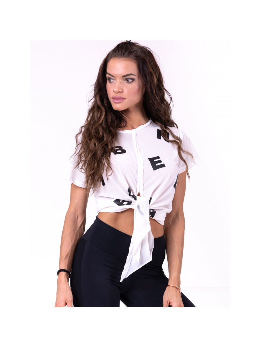Tied knot Letters T-shirt N680 WHITE...