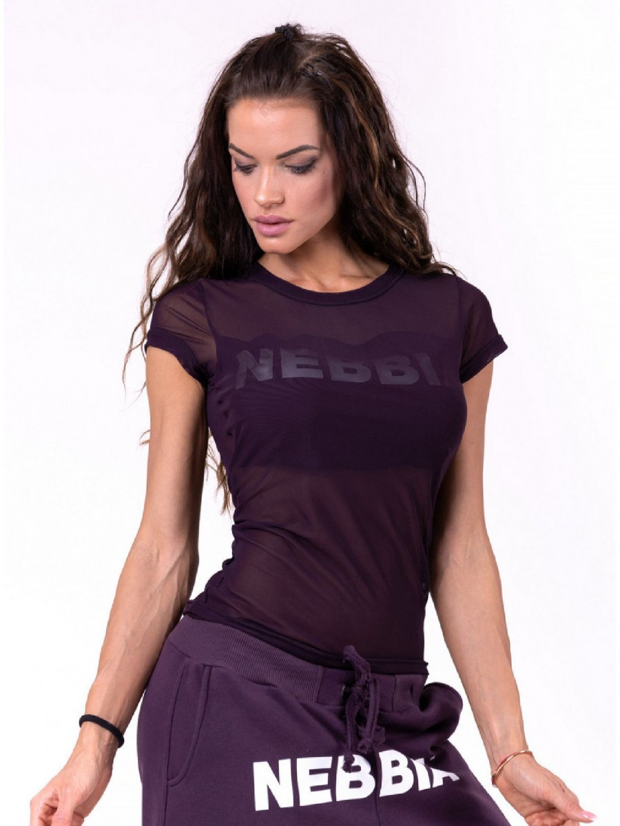 Flash-Mesh T-shirt N665 BURGUNDY NEBBIA